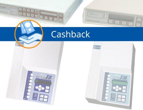 Alarmmelder cashback actie op aanschaf Octalarm-Touch